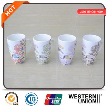 14oz White Ceramic Coffee Mug with Decal