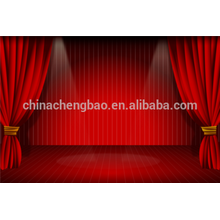 China cortina roja motorizada de la etapa, cortinas de la etapa de la boda