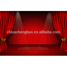 China motorized red stage curtain,wedding stage curtains