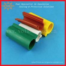 La línea aérea de goma de silicona cubre el tubo de aislamiento