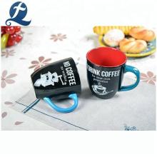 Tasses à eau à la maison de café personnalisé imprimé de haute qualité en céramique
