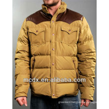 stylish shiny goose men's down jacket