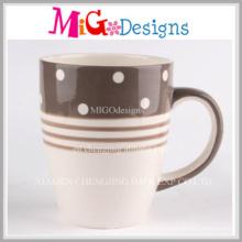Großhandelsgeschenk geschnitzte keramische Kaffeetasse