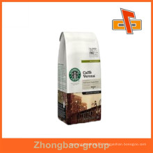 Guangzhou supplier hot sale heat seal moisture proof kraft paper material coffee packaging bags with your own logo