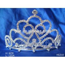 Конкурс короны тиары красный кристалл свадьба корона жемчуг кристалл корона тиара праздник тиара корона для свадьбы