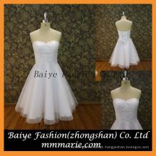 Beautiful Short Chiffon Applique Projetado vestido de casamento de alta qualidade