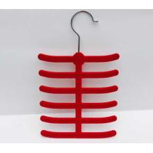 Красочные ABS пластика бархат стадо галстук вешалка
