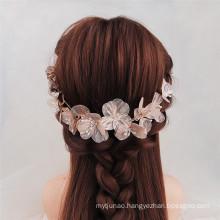 Handmade Designer Elastic Headband Wedding Bride For Women Girl Luxury Hair Accessories Korean Crown Flower Hairband Feast Party