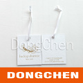 Fold Kraft Cardboard 4c Printing Clothing Hang Tag