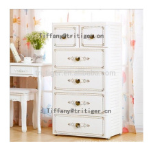 ABS plastic material Gold western style wardrobe foldable cabinet for Kids
