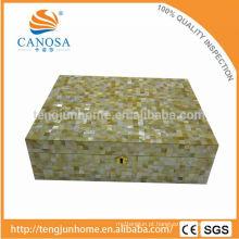 CGM-CH Golden Mãe de Pearl Cigar Box para Presente de Luxo
