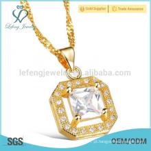 Cobre banhado a ouro cadeias pingente, fina colar de corrente de ouro para as mulheres