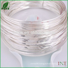 Assay test report available Jewelry High purity silver wire 99.99 %