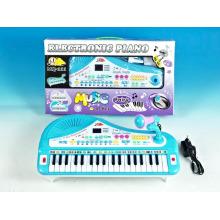 Eletrônico de plástico 37 chaves órgão com microfone (10216812)
