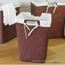 (BC-ST1076) Good Quality Pure Manual Natural Straw Laundry Basket