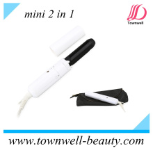 Mini Hair Curler / Straightener 2 en 1 para el recorrido