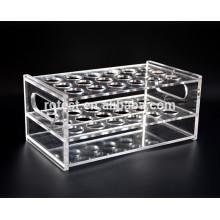 Support pour tubes à essai en acrylique
