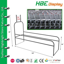 supermarket metal wire single cart corral