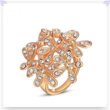 Kristallschmucksache-Art- und Weisezusatz-Legierungs-Ring (AL0011RG)