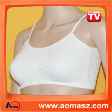 Breathable sport bra with pads