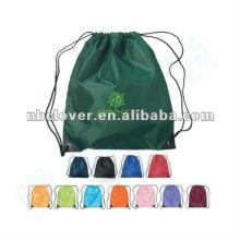 Saco colorido barato do Drawstring de nylon
