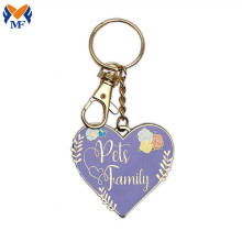 Gift Metal Custom Pets Are Family Keychain
