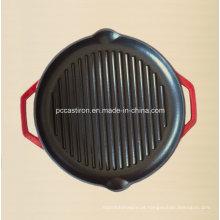 Esmalte de ferro fundido Griddle Pan com certificado LFGB