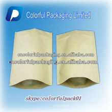 Printing or clear Tea kraft paper bag lined foil with best material