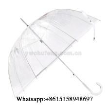 Transparent Apollo Umbrella Clear Bubble PVC Umbrella With Transparent Handle