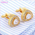 VAGULA Quality Hot Sales Gold Gemelos Zircon Cuff Links  (327)