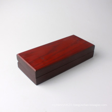 Wooden jewelry necklace box with foam insert