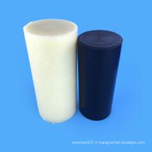 Engineering Plastics Tige en nylon 100% plastique noir / blanc