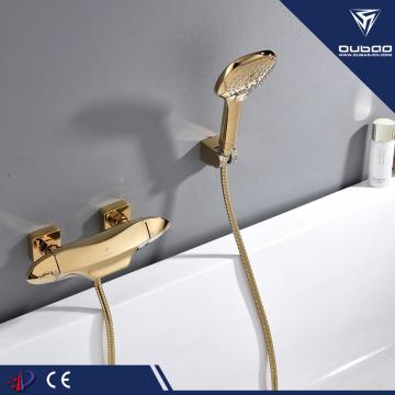Golden bath faucet thermostatic bathtub shower mixer tap