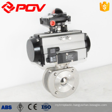 Pneuamtic actuator ball valve wafer type ball valve