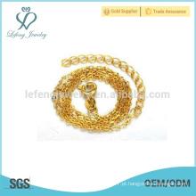 Simples fina colar de corrente de ouro, fina cadeia de ouro desenhos
