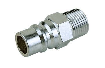 Mass Flow Male Thread Quick Coupler Plug