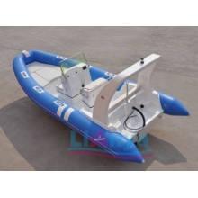 Aufblasbares Fischerboot aus steifem Rumpf aus Fiberglas