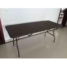 6FT Новый дизайн из ротанга Пластиковые складные столы для наружного использования
