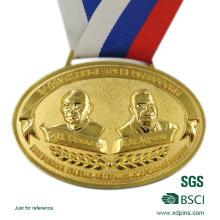 Morre o medalhão liga feito de zinco feito sob encomenda da carcaça para esportes