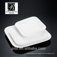 P & T Chaozhou Porzellan Fabrik, Ozean Linie quadratischen Platten, Mode Eleganz
