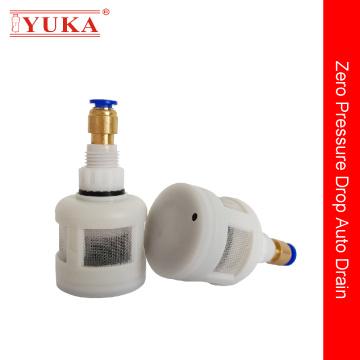 Válvula de drenagem automática no compressor de ar