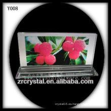 Colorful Print Photo Crystal Y008