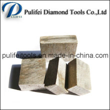 Segment de coupe abrasif de pierre de dents de scie de diamant pour la coupe de roches