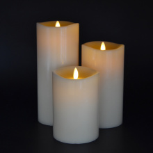 small wave 360 degree moving Flickering flame led candle