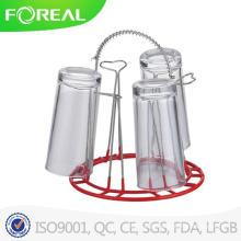 Suporte de copo de vidro cromado em metal mergulhado em PVC