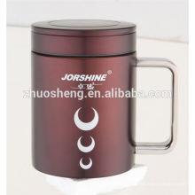 New Style Produkt doppelwandig Edelstahl Keramik Becher Tasse mit Griff