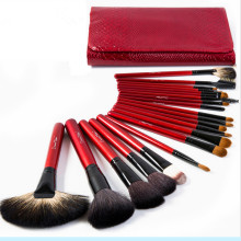 Professional Goat Hair Cosmetic Makeup Brushes 21PCS for Eyebrow Blending