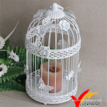 Regalo de boda decorativo antiguo Metal Blanco Candle 32cm Linterna