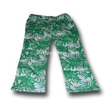 green flower print pants for girls