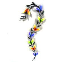 Decoración del metal del jardín de la mariposa del baile colorido para la pared
